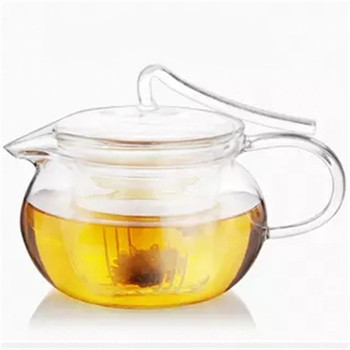 Factory direct supply 450ml heat resistant high borosilicate glass tea pot for family
