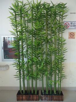 Gz Sj High Imitation Landscaping Customize Green Decorative Artificial Bamboo Sticks For In Factory Price