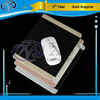 China quality silver black gold leather covering aluminum mouse pads