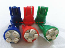 pink/red/yellow/blue/green/white T10 194 168 501 miniature wedge 3528/1210 4smd led car light bulb