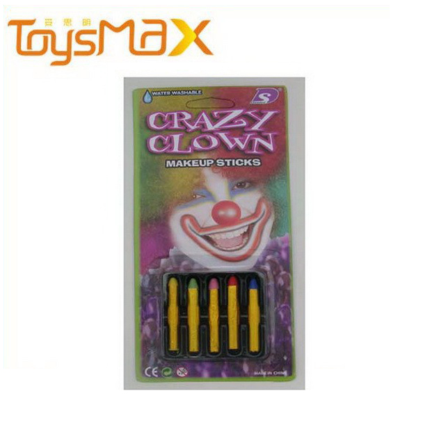 Halloween crazy clown makeup crayons for kids