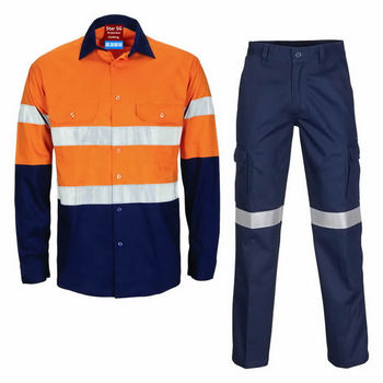 Custom Made High Visibility Construction Coal Mining Reflective Safety Protective Workwear Clothing Wholesale