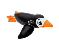Inflatable Kids' Animal Shape PVC Penguin Ride On