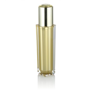 luxury gold cosmetic packaging 100ml acrylic cream pump bottle with lotion pump