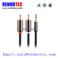 High Quality Y Type RCA Audio Cable Splitter