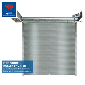 Warehouse industrial steel aluminum high Fire rated fireproofing roller shutters
