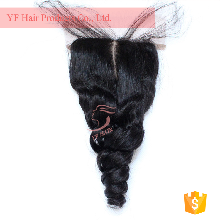 alibaba express brazilian hair 8in to 22in light brown lace closure
