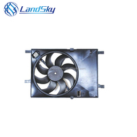LandSky black plastic Automotive Radiator cooling Fan Assembly Condenser Fan OEM9023973 DC12v