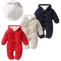 2019 Fashion 3 color infant unisex long sleeves winter warm thick sweater onesie romper jumpsuit newborn baby clothes