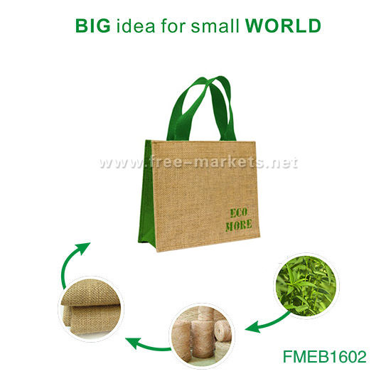 ECO friendly natural biodegradable high quality jute tote bags