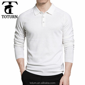 f886a2ed latest Design White Blank Plain Custom original mans Long Sleeve t shirt  polo t shirts for