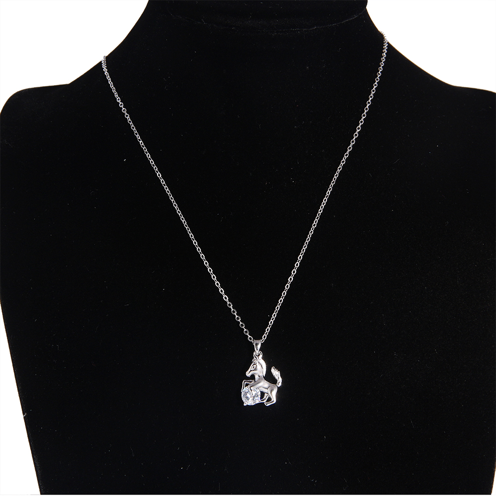 Fashion Wholesale Horse Shape Women Jewelry Gold Chain Neckalce