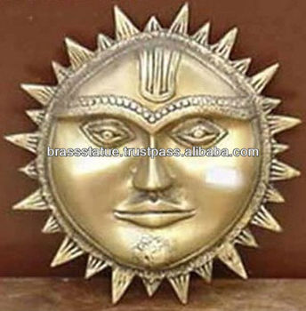 Bronze Metal Sun Face Wall Decor Hanging Gift U0026 Crafts Decoration