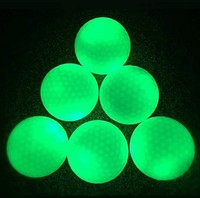 Good choice for night golf glow in the Dark fluorescence Golf Balls