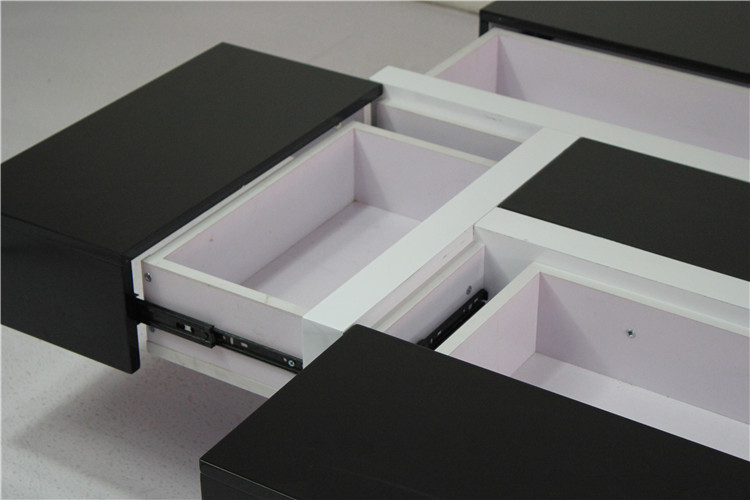 Black High Gloss Mdf Wood Square Coffee Table Home Center