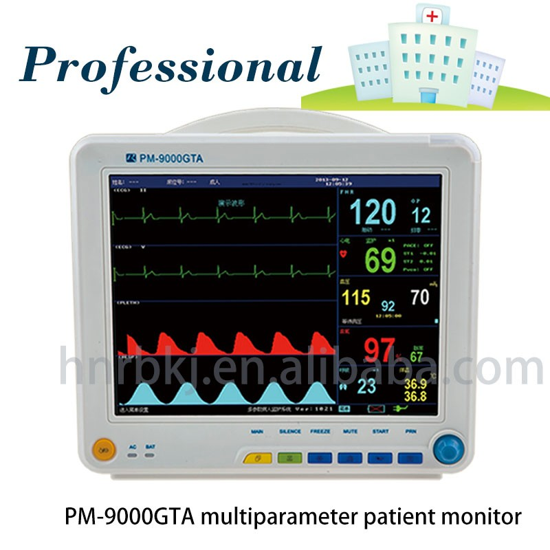 Hospital Operation Room Icu Ambulance Emergency Monitor With Tft Lcd Display Screen