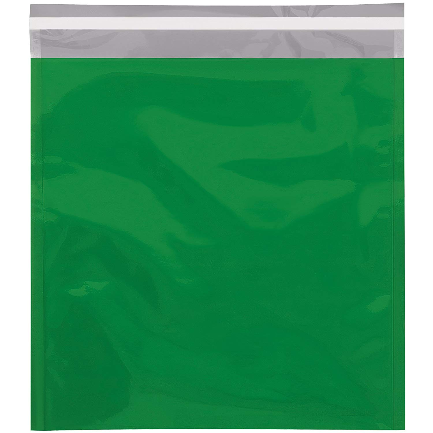 "Boxes Fast BFGFM1013GN Metallic Glamour Mailers, 10 3/4"" x 13"", Green (Pack of 250)"