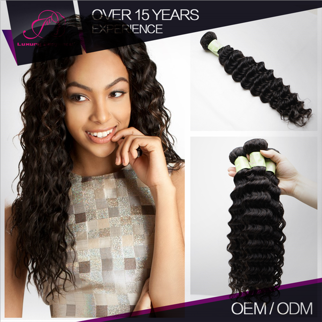 Bundle Hair Vendors For Sale Full And Thick Peruvian Hair Weave Black Deep Wave