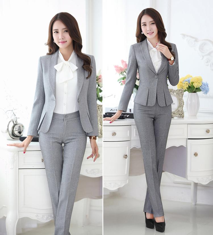 Womens Formal Work Suit Pants Black Grey Ladies Career ...