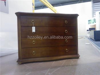 franse stijl antieke soild hout mooi gesneden smalle nachtkastje slaapkamer meubels
