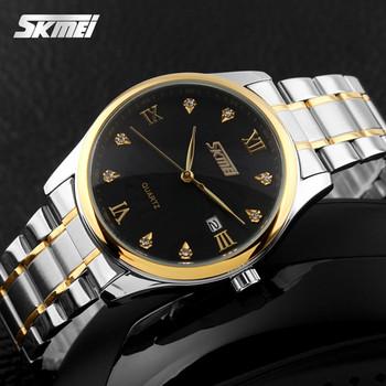 Luxury Waterproof Men Watch Gold Reloj Stainless Steel Back Japan ...