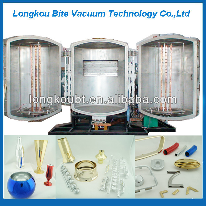 Shoes Heel Pvd Vacuum Coating Machine Silver Color Plating