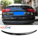 For 2012-2018 Audi A6 C7 4 door sedan carbon fiber rear trunk boot lip M4 style rear spoiler