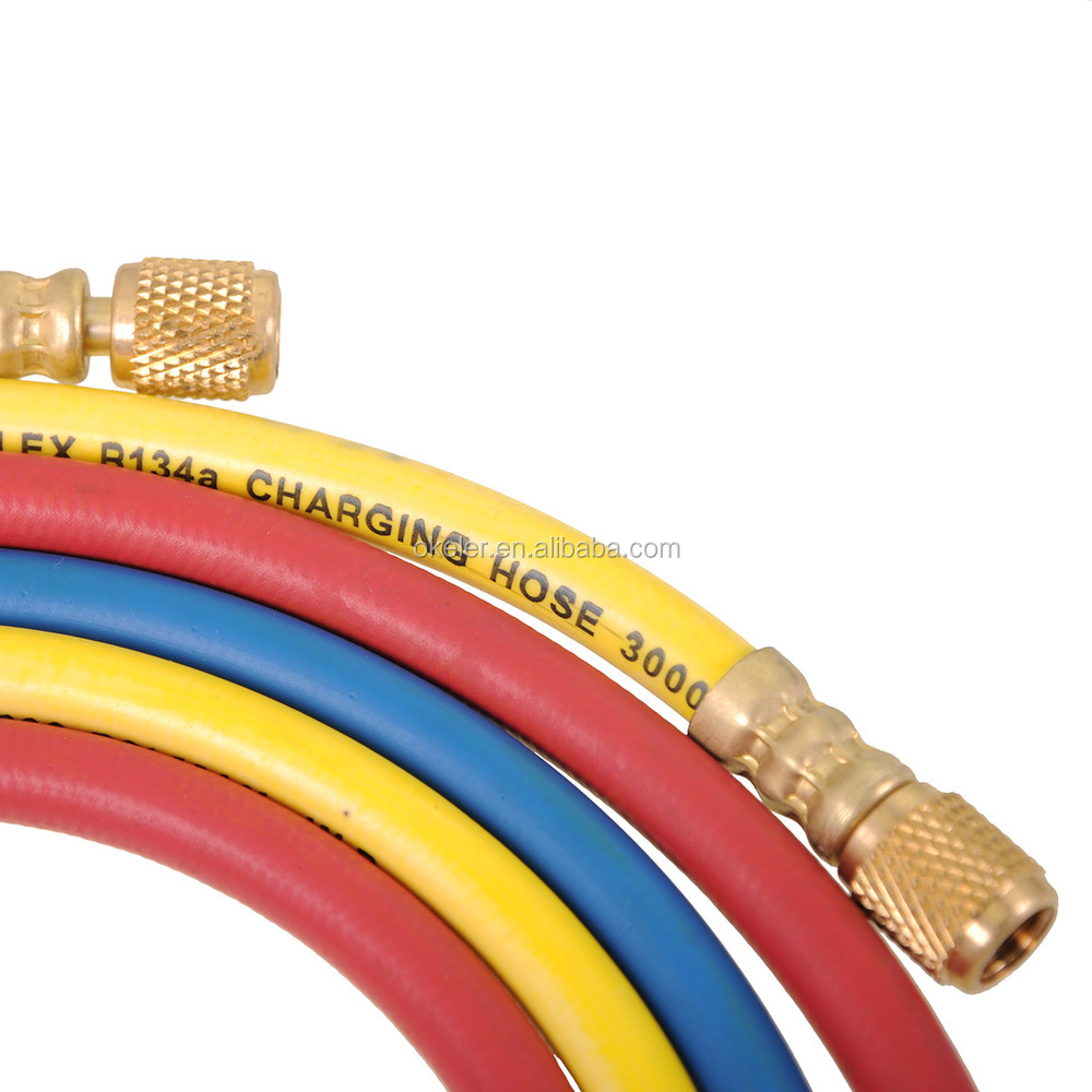 "Hot Sale 33"" 600PSI AC Charging Hose Set for HVAC Air Condition Refrigerant R12 R22 R134A"