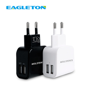 New EU Plug 2 Ports USB Charger Dual 5V/1A/2A Travel Wall Adapter Mobile Phone Device Data Charging