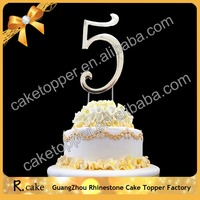 High Quality Numbers 5 Birthday Cake Toppers Letter Wedding Cake Decoration for Party Supplies