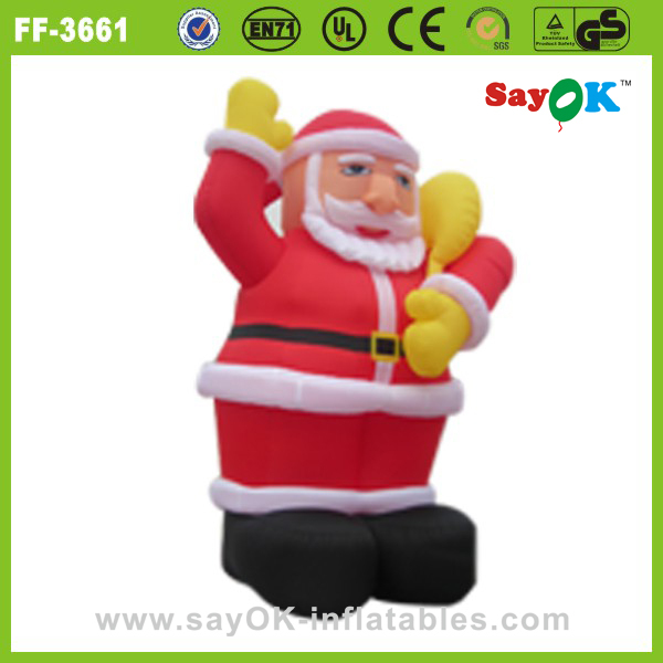 outdoor decorations 20ft christmas inflatable santa,inflatable western christmas decorations santa