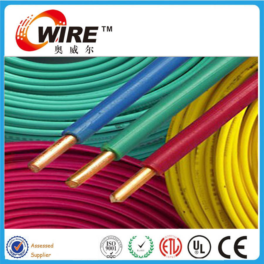 Owire single core pvc insulated copper BV2.5mm2 flexible cable acids oil moisture mold resistant electrical wire prices