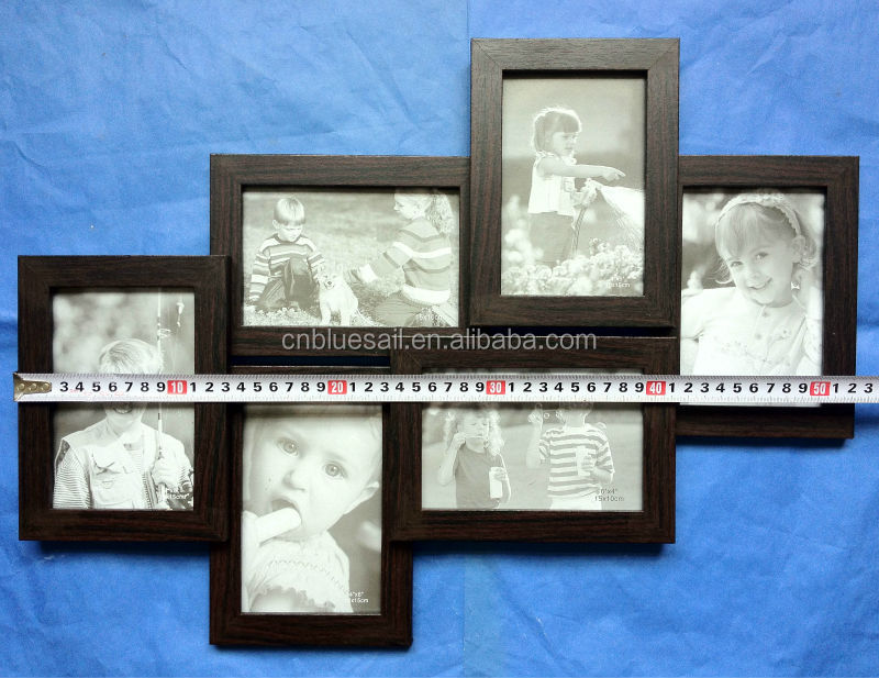 6-openings Collage Frame,Wooden Photo Frame,Handmade Photo Collage ...
