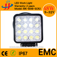 Free shipping IP67 Epsitar 12v 48W automotive led light work light led auto off road lights keep you safe