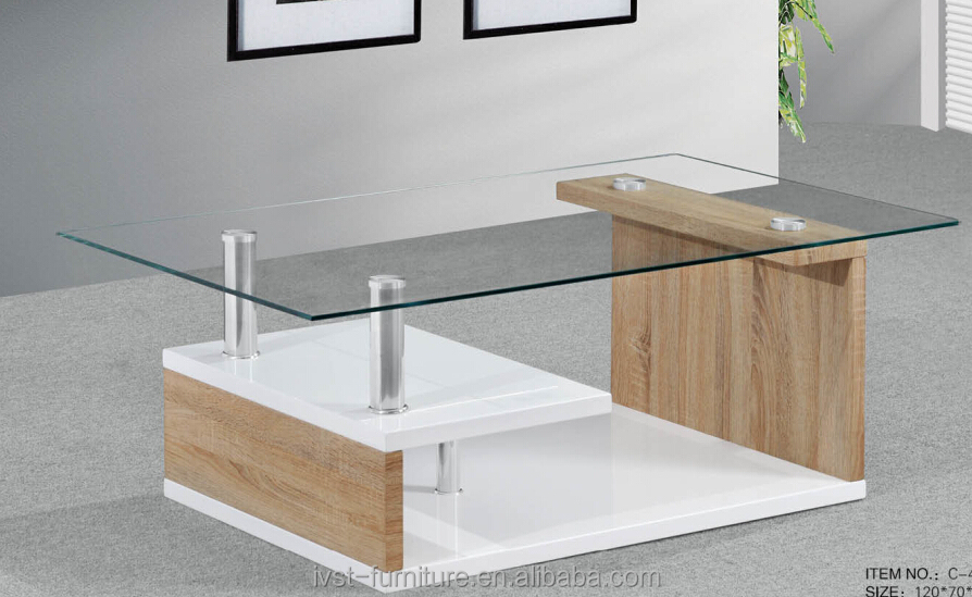 Center Table With Glass : ... Glass Top Wood Center Table,Modern Design Glass Center Table Product