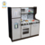 PLK511 Large Espresso Toy Kitchen Sets For Boy, Eco-friendly Wooden Kitchen Set Toy For Wholesale