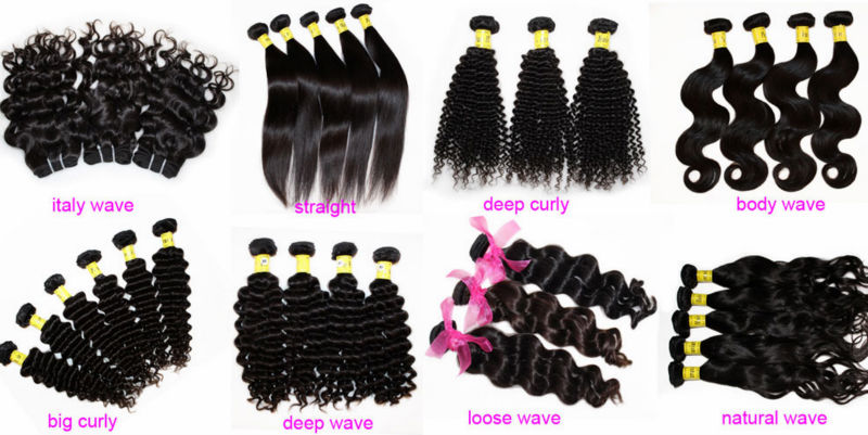 Large Stock Luxury Hair Weaving Different Types Burgundy Highlights