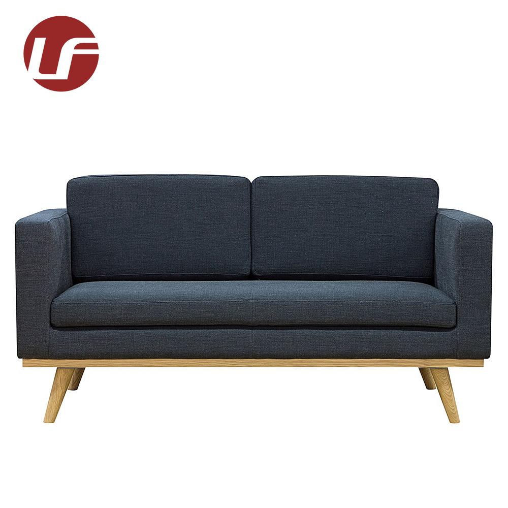 Custom made simple style 2 seater wooden frame modern living room black fabric sofa buy simple black fabric sofacustom made black fabric sofaliving room