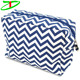 New Products Chevron Canvas Cosmetic Bag, Fashion Cute Cosmetic Pouch