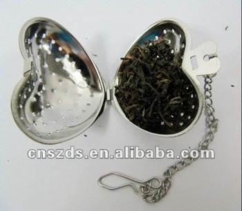 free shipping heart sharped stailess steel tea infuser tea ball tea strainer tea ball