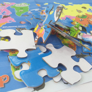 1.8mm Kids educational paper map games puzzle jigsaw