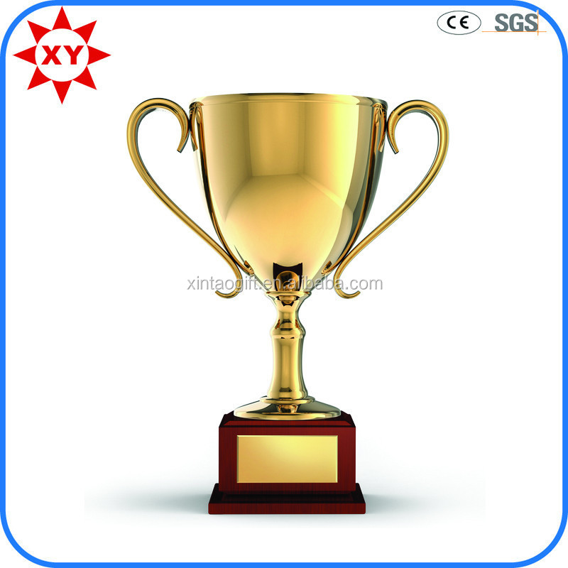 Souvenir gift custom metal trophy cup for wholesale