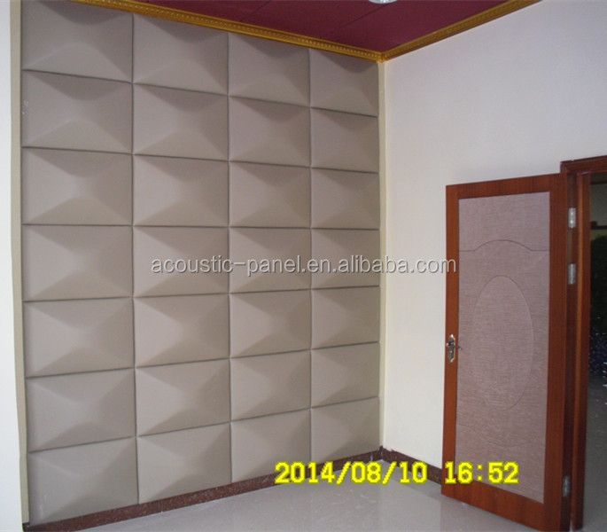 blue leather wall panel sound proof acoustical foam panel YZ-005
