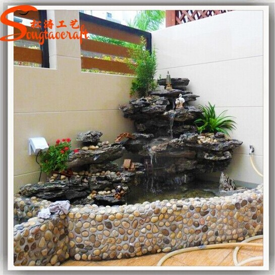 factory wholesale garden indoor mini decorative frp water fountain with pumps for home