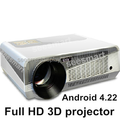 Kualitas Tinggi LED Proyektor 1080P Android 4.2.2 Wifi Smart Full HD 4500Lumens Native1280 * 800 3D Proyektor