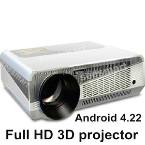 High quality Led projector 1080P with Android 4.2.2 Wifi Smart Full HD 4500Lumens Native1280*800 3D Projectors with HDMI USB TV