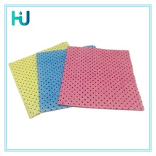 China manufacturer OEM full color spunlace nonwoven wipes with plastic dots