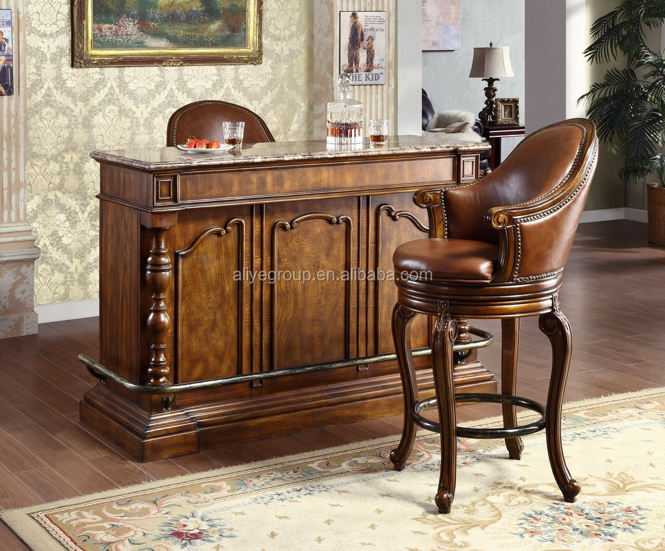 French Style Baroque Home Bar Furniture European Classic