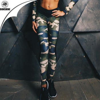 2017Women's New Style Camouflage Print Slimming Yoga Leggings