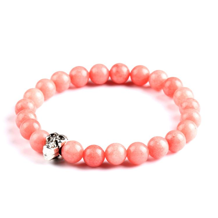 beads artificial jewellery jaipur afghan pink natural stone bracelet